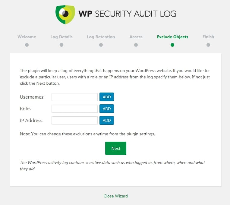 WP Security Audit Log 安裝導引